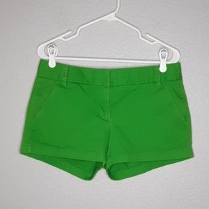 J. Crew Bright Green Broken-In Chino Shorts
